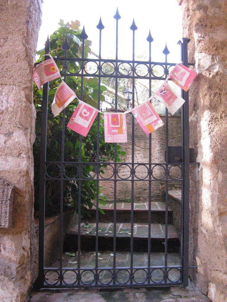 Bandierine augurali rosa