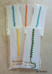 Braccialetti colorati in pizzo chiacchierino e perline