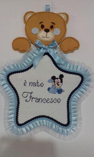 Fiocco Nascita, Coccarda nascita con topolino