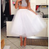 Gonna lunga  in tulle bianco // White tulle skirt