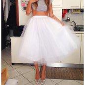 Gonna lunga  in tulle bianco // White tulle skirt