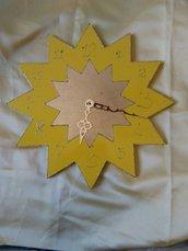 orologio sole realizzato a mano