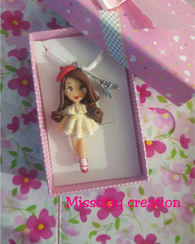 Doll parigina in fimo