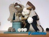 NATALE-ANGELO PORTADONI in pannolenci, lana e legno fatta a mano