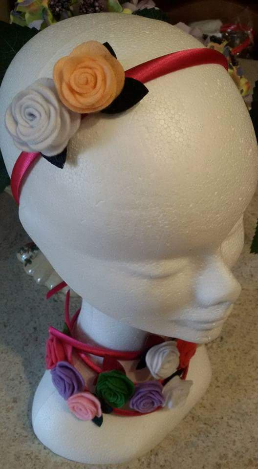 Cerchietti bimba con rose