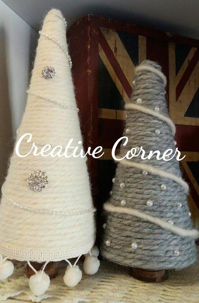Alberelli di Natale in lana