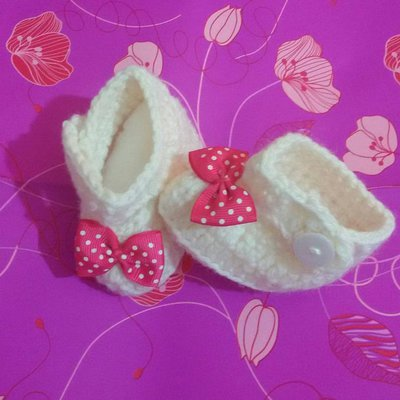 Scarpette scarpine ballerine neonato uncinetto