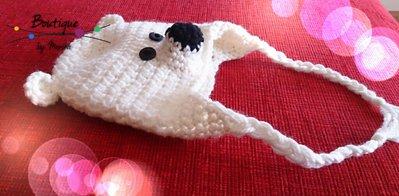 Berretto orso polare ad uncinetto