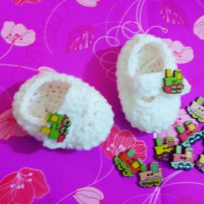 Scarpette scarpine crochet  neonato uncinetto