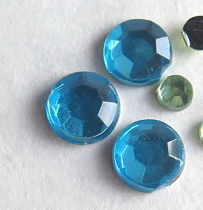 30 Strass azzurri PRL292