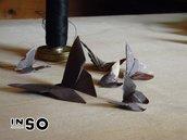 Farfalle di scontrini origami