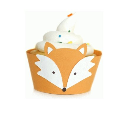 Wrapper per Cupcake: Volpe