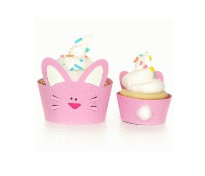 Wrapper per Cupcake: Coniglio