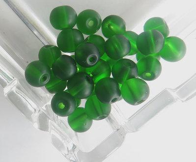 20 Perle di vetro verde 6 mm PRL313