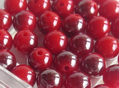 10 Perle varigate rosso 10 mm PRL318