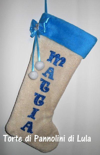 Calza Natalizia Epifania- Personalizzata con Nome- Idea regalo originale