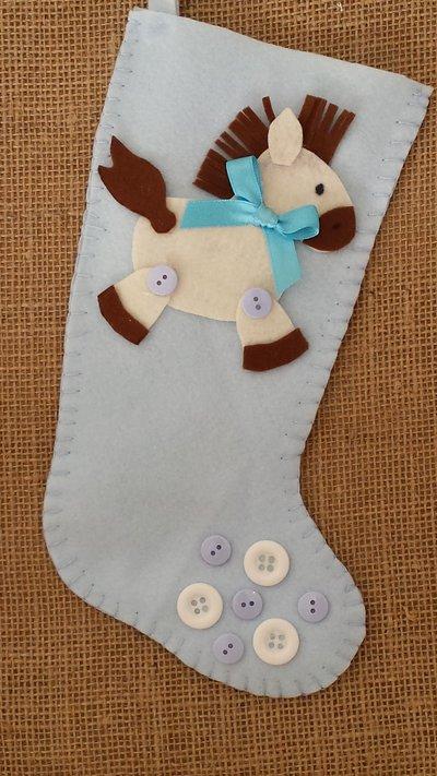 Calza befana con pony