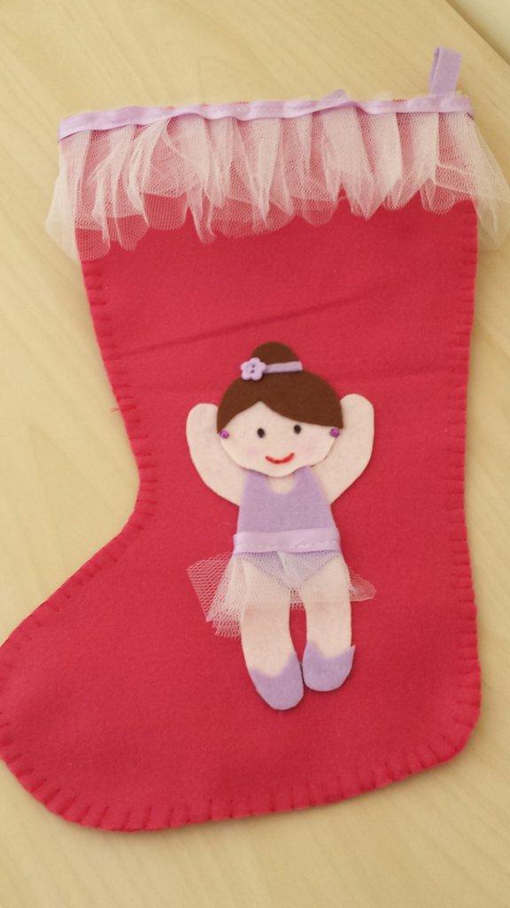 Calza befana con ballerina