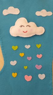Calza befana con nuvoletta