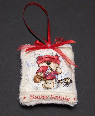 """Addobbo Natalizio Cuscinetto """"Buon Natale"""" con Fizzy Moon"""