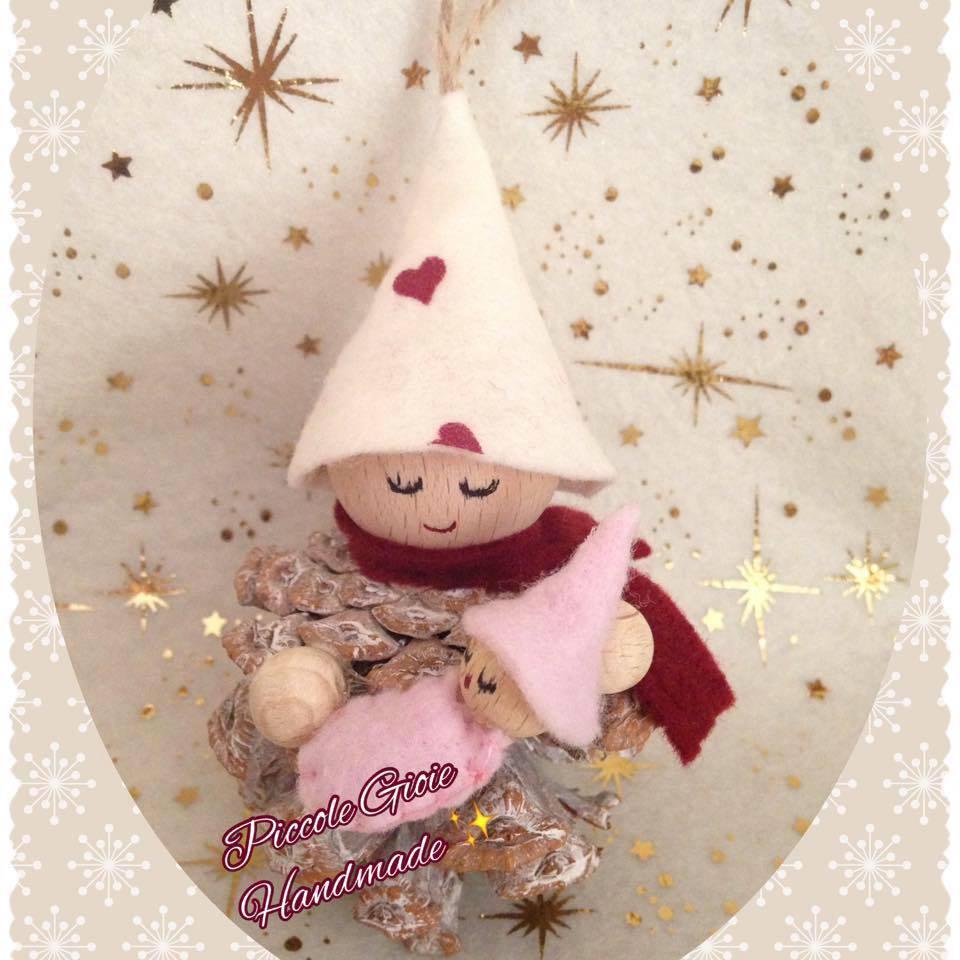 Decorazione natalizia Folletto maternità personalizzabile