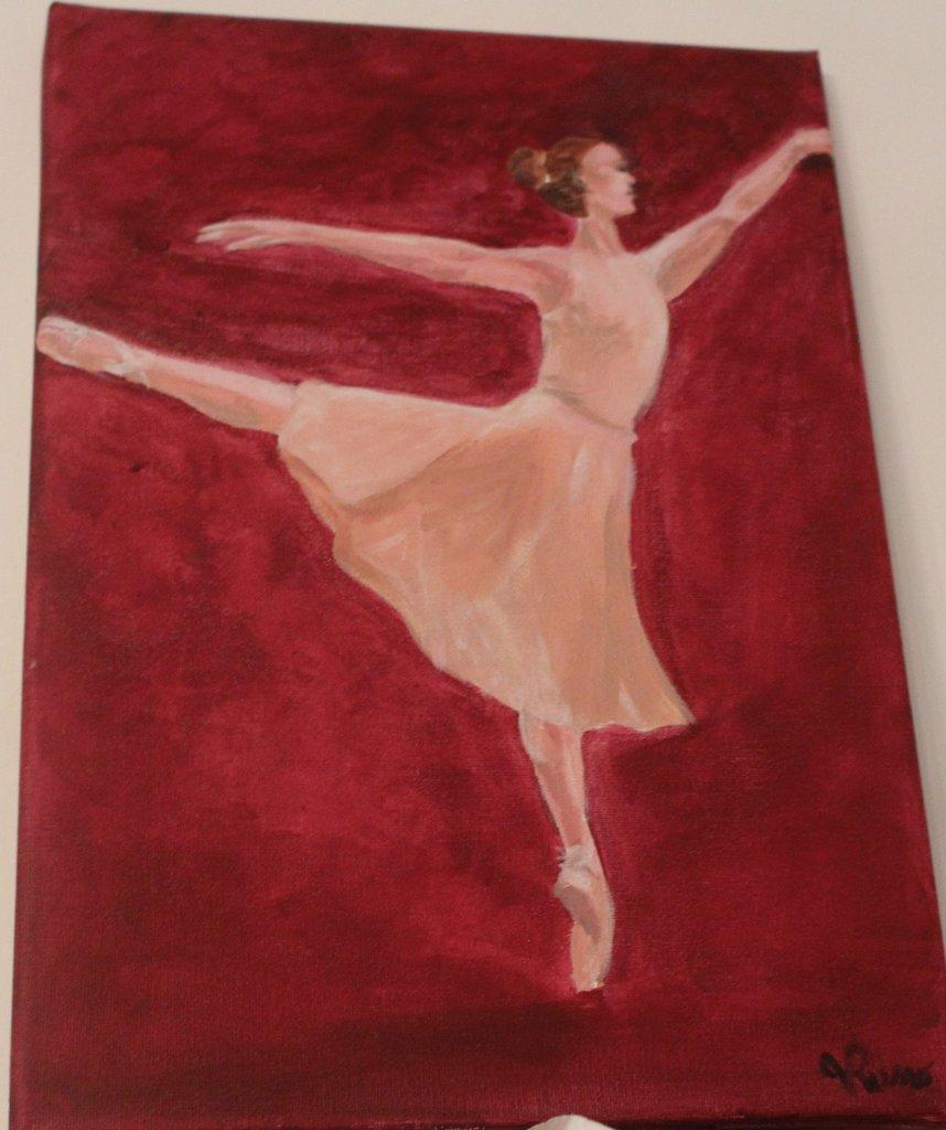 Acrilico su tela ballerina classica
