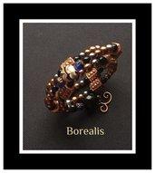 Bracciale perle di Boemia e cristalli