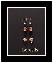 Orecchini perle di Boemia, cristalli e perle veneziane