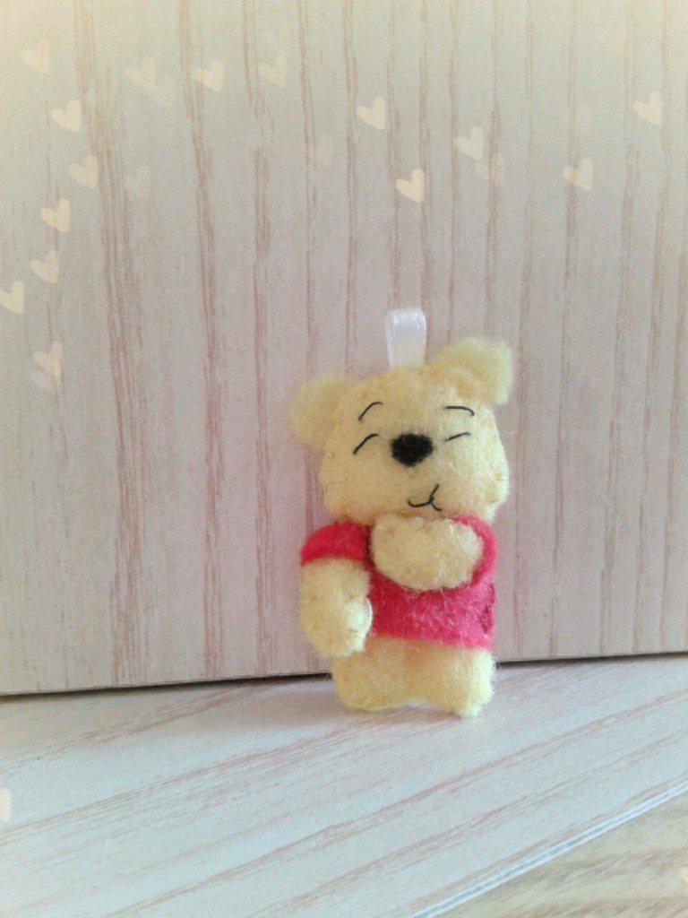 Bomboniera portachiavi Winnie the Pooh in feltro