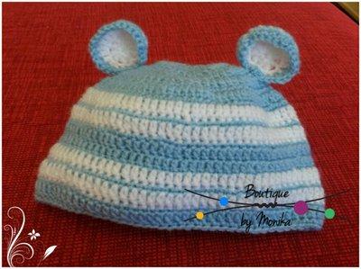 Berretto neonato con le orecchie
