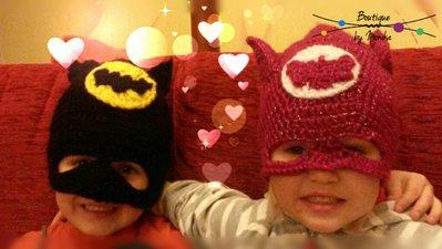 Berretto Batman con le orecchie e maschera