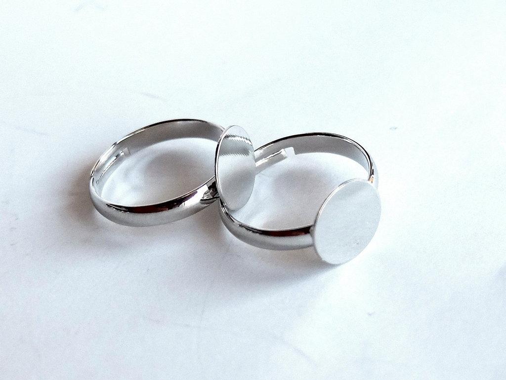 4 basi per anello silver FER 126