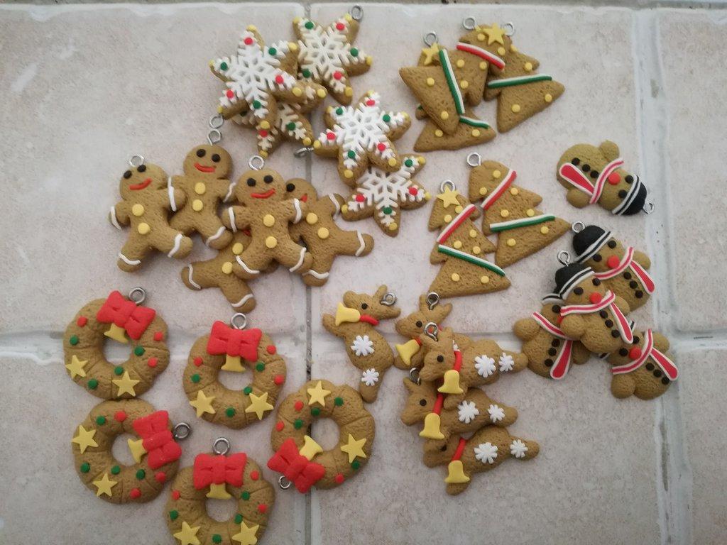 Charms / ciondoli tema natalizio