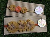 SPEDIZIONE GRATUITA!!! Set di 2 Fasce elastiche per capelli in tono corda by Little Rose Handmade