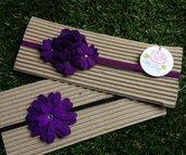 SPEDIZIONE GRATUITA!!! Set 2 fasce elastiche in tono viola by Little Rose Handmade