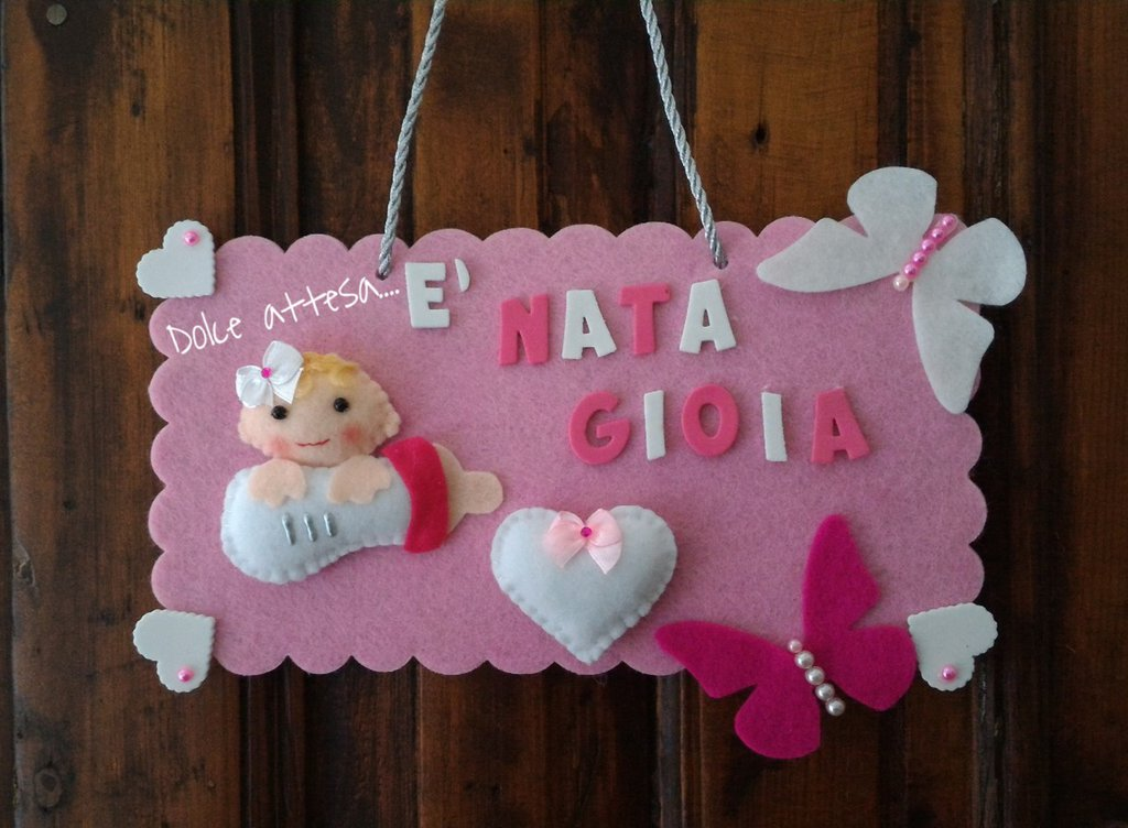 Famoso FIOCCO ANNUNCIO NASCITA PER BIMBA - Bambini - Nascita - di Dolce  GT79