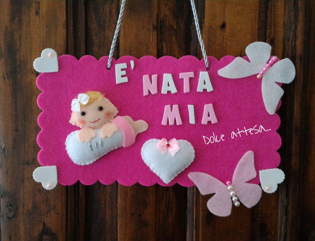 Preferenza FIOCCO ANNUNCIO NASCITA PER BIMBA - Bambini - Nascita - di Dolce  MQ81