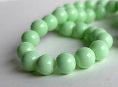 20 Perle di vetro verde chiaro 8mm PRL335