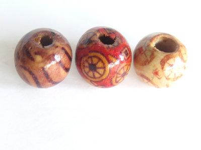 10 Perle di legno FANTASY  PRL339