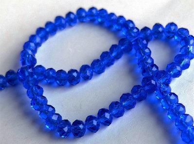 20 Perle Crystal sfaccettate blu  PRL342