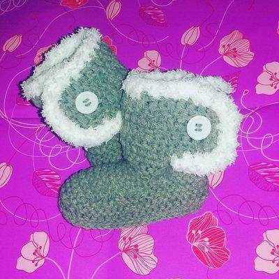 Stivaletti scarpette scarpine tipo Ugg neonato bebè pelliccia