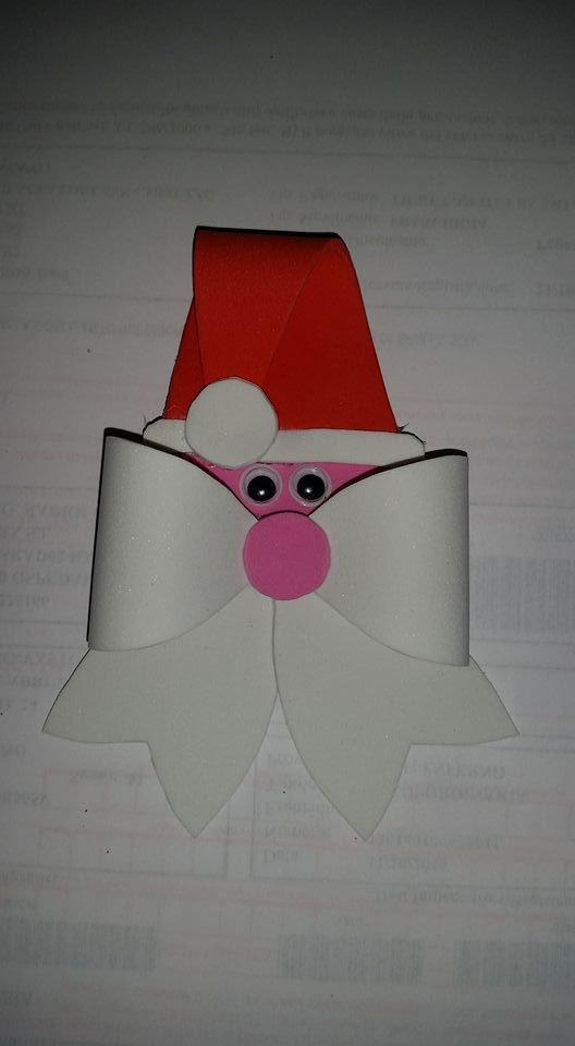 Fiocco Babbo Natale in gomma crepla