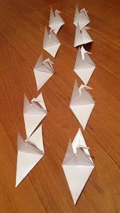 Set 10 Origami gru segnaposto