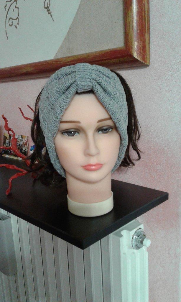 Fascia scalda orecchie in 100% cashmere