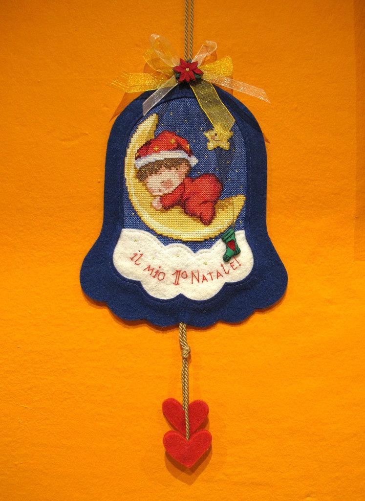 """Decorazione Natalizia Campanello """"Il mio 1 Natale"""""""