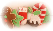 fabulous felt food cake cookie christmas tree decoration ornaments