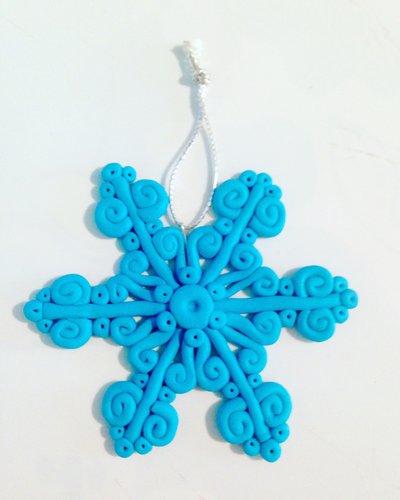 Decorazione natalizia fiocco di neve