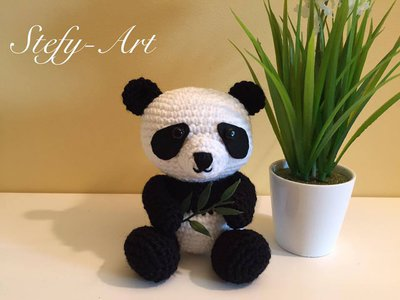 Panda amigurumi- uncinetto
