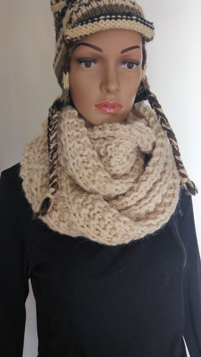 Sciarpa circolare in lana -  Infinity scarf
