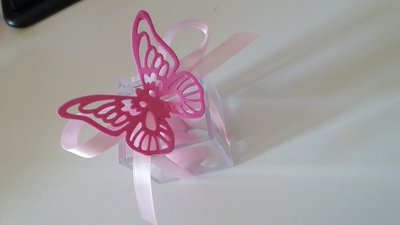 bomboniera farfalla in gomma crepla